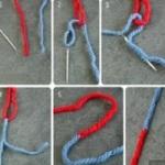 Как соединить две нити при вязании без узелков.