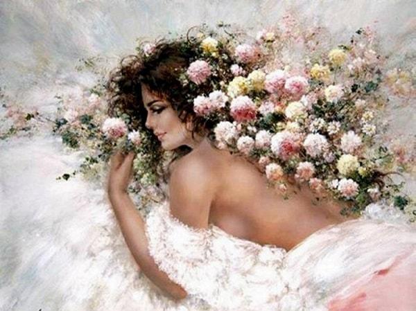 Дама в цветах