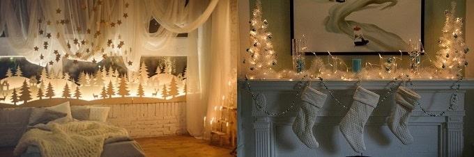 как можно украсить дом к Новому году