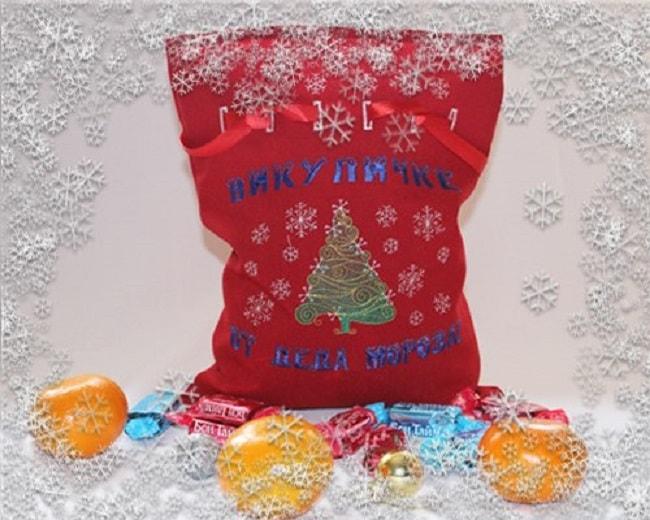новогодний именной мешок от Деда Мороза